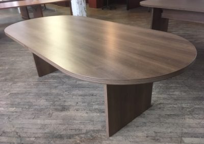11. Walnut Racetrack Conference Tables (2 Available)