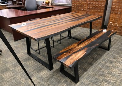 Live Edge Style Dining Table and Bench