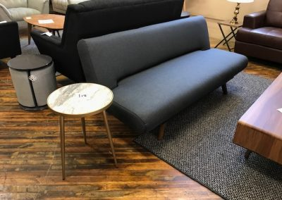 Modern Grey Futon and Marble End Table