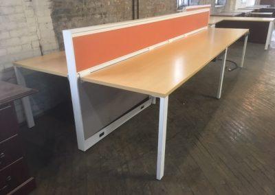 01. Kimball 4-Desk Workstation