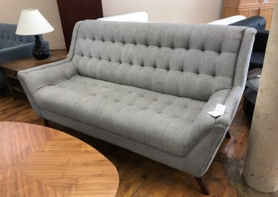Modern High Back Grey Sofa - $699