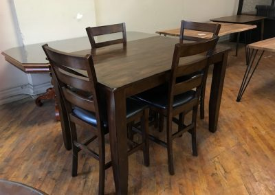 Used Pub Table and Stools - $300