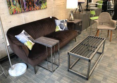 Natuzzi Velvet Sofa