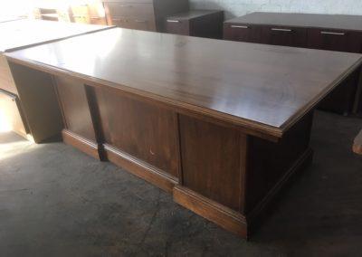 14. Traditional Walnut Executive Desk