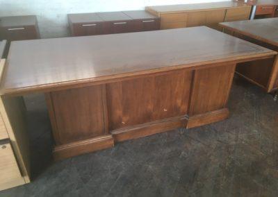 04. Walnut Traditional Executive Desk